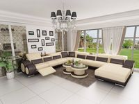 Moderna de la alta calidad hermosa de cuero seccional sofá/sofá Modern Sectional, Leather Sectional, Living Room Sets, Living Spaces, Futuristisches Design, Armless Chair, Outdoor Furniture Sets, Outdoor Decor, Power Recliners