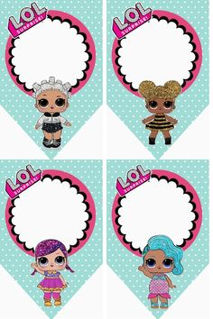 Le plus chaud Images lol para imprimir Populaire 4th Birthday Parties, 7th Birthday, Fete Emma, Deco Ballon, Lol Doll Cake, Oh My Fiesta, Doll Party, Lol Dolls, Birthday Invitations