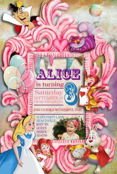 Alice in Wonderland Birthday Party Cupcake by missbellaexpressions, $5.00