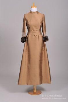1970 Copper Vintage Evening Gown