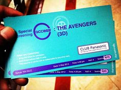 Free tickets to The Avengers 3D from Panasonic Club in Malaysia.