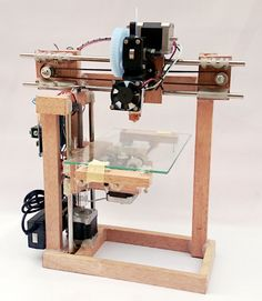 A simple easy to construct repstrap using only    some basic hand tools   timber and plywood   liquid nails and hot melt  Video http://www.youtube.com/watch?v=iDms-eyPZ-Y  Build a 3d printer without any printed parts, except for the extruder. Use the money required for buying printed parts to get a good extruder instead.   The objective is to create a repstrap or a temporary 3d printer that anybody can build at home using cheap and easily available materials, to learn about 3d printer and…