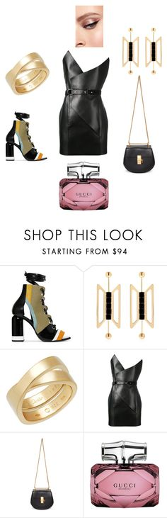 Saturday night - club night by ssakshis on Polyvore featuring Yves Saint Laurent, Pierre Hardy, Chloé, Cartier, Natama Design and Gucci