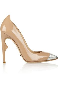Jerome C. Rousseau Flicker two-tone patent-leather pumps | THE OUTNET