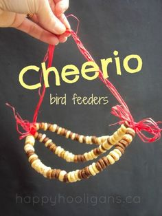 Cherrio Bird Feeders - Easy activity for kiddos!