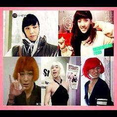 BIGBANG LADIES .. LOL - Taeyang, Daesung, Seungri , GD and TOP  ♡ #BIGBANG #FUNNY