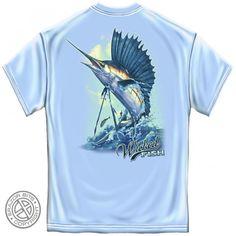Mens Sailfish Fishing Tee Shirt