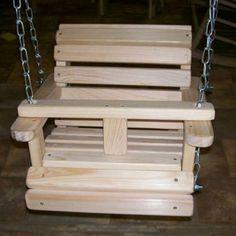 LA Swings Wooden Outdoor Baby Swing