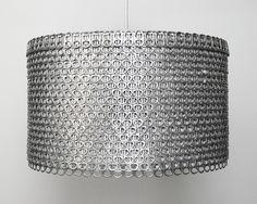 Soda Can Tab Drum Shade Large EcoFriendly by Zipper8Lighting. $295.00, via | http://floorinterior.blogspot.com