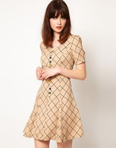 Want!! Nishe Check Sweetheart Tea Dress