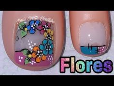 Acrylic Nails At Home, Toe Nail Designs, Hot Nails, Manicure And Pedicure, Spring Nails, Nail Art, Floral, Tattoos, Color Plata