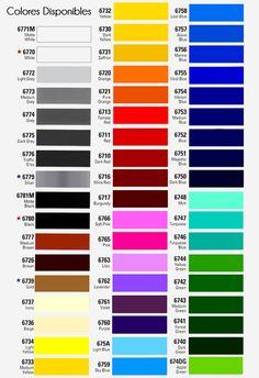 Colores viniles