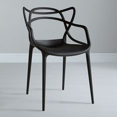 Kartell Masters Chair in BLACK  X 3 Designer  Dining Chair by Philippe Starck