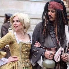 Giselle and Captain Jack Sparrow
