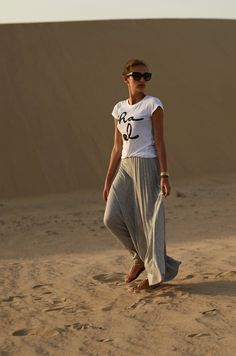 Must Haves for Summer 2013 - text tee and maxi skirt