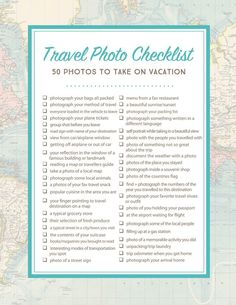 Document your next trip, whether its abroad or somewhere closer to home, with this printable Travel Photo Checklist – download for free today! If you've been a follower of Simple as That for any amou