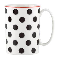 kate spade new york Things We Love Spots Mug by Lenox Cute Coffee Mugs, I Love Coffee, Cute Mugs, Coffee Cups, Coffee Talk, Mug Cup, Tea Pots, Kate Spade, Polka Dots