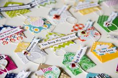 By Cindy Liebel for Lily Bee. Tiny envelopes from the new Double Dutch collection    Idea for JYC numbers??