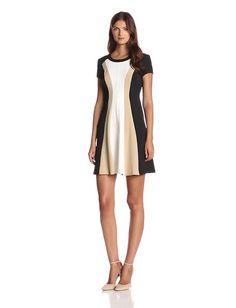 Sandra Darren Women's Cap Sleeve Color Block Fit and Flare Dress, Ivory/Black/Tan $37.21 http://www.amazon.com/dp/B00MHH4TQK/?tag=httplorealbew-20