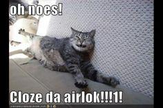 Oooooh no close the airlock