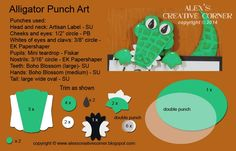 punch art for cards or layouts - Alligator topper