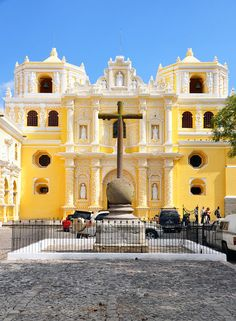 La Merced Church, Antigua Guatemala, Guatemala. The Mercedarians were the first to establish a male monastery at the former Santiago de Guatemala. The cross in stone at the atrium and the rooms behind the main altar are the oldest structures in La Merced and date from the seventeenth century. [http://en.wikipedia.org/wiki/La_Merced_Church]