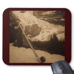 Ventilateur vintage d'Alphorn de Suisse Tapis De Souris