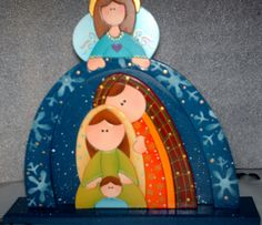 I would love to make this from dough or clay. Nativity Creche, Nativity Crafts, Christmas Nativity, Christmas Art, Christmas Projects, All Things Christmas, Christmas Ornaments, Nativity Sets, Xmas