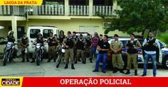 Polícia Militar e Civil realizam operação em Lagoa da Prata.>http://goo.gl/gD9J9N