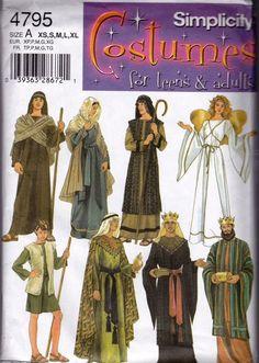 Simplicity Costume Pattern 4795 Nativity Adults Teens XS S M L XL Uncut FF #Simplicity