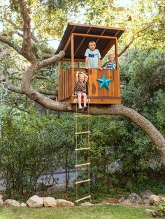 What kid wouldn't love a tree house? #Backyard #DIY #hgtvmagazine // http://www.hgtv.com/design/decorating/design-101/tour-this-warm-woodsy-welcoming-home-pictures?soc=pinterest