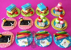 Teacher, back to school #cupcakes #topper  Cakes by Angela Morrison