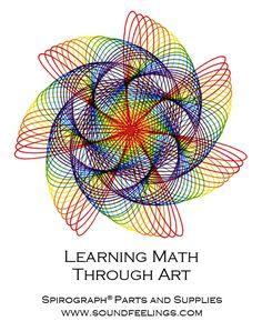 Fun Math Activities, Creative Activities, Spirograph Art, Math Art, Geometric Art, Repeating Patterns, String Art, Art Techniques, Cartoon Drawings