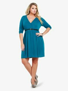 Faux Wrap Knit Dress- A bit short for my taste normally. But this would be really pretty with a pair of leggings.