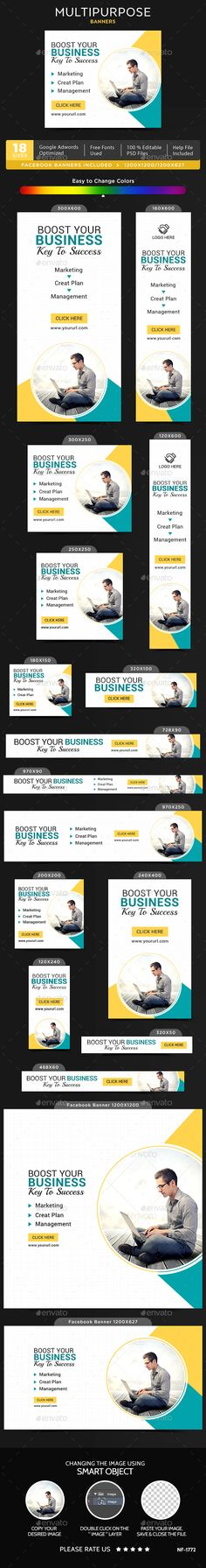 Multipurpose Banners   Banner template, Banners and Web banners