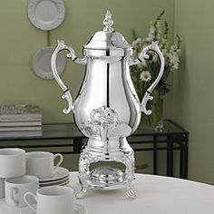 I always wanted a beautiful silver coffee urn like this one :)  With the Spigot!