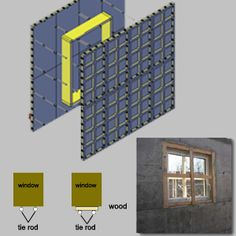 BOFU is the professional supplier for construction material, main products is modular formwork system and its accessory. With our advanced system, BOFU will help you to build faster. Icf Concrete, Grill Gate Design, Rammed Earth Wall, House Front Porch, Wood Windows, Earthship, Scaffolding, Construction Materials, House Plans