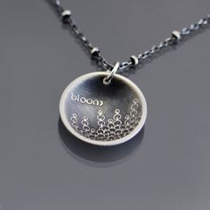 Bloom Necklace  Etched Sterling Silver  MADE TO by lisahopkins