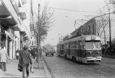 Tramvai EP linia 14 Sfânta Vineri 20.11.1978 © Serban Lacriteanu Bucharest, Vehicles, Rolling Stock, Vehicle, Tools