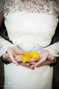 Mooie foto van de trouwringen #herfst #bruiloft #inspiratievoorjebruiloft