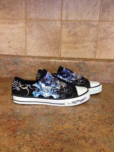 WOMEN'S ED HARDY SLIP-ON SNEAKERS-SIZE: 6 #EDHARDY #SkateShoes