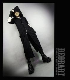 CDJapan : Mage Like Hooded Super Long Cardigan (M) DRT2099-B Deorart APPAREL