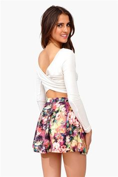 Twist And Shout Crop Top - Ivory. Would work with my coral maxi skirt