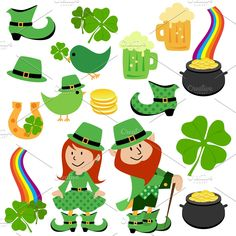 St Patrick's Day Vectors and Clipart - Illustrations