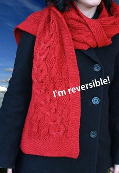 (6) Name: 'Knitting : Reveur Scarf with reversible cables