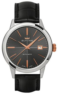 Glycine Watch Classic Automatic S #bezel-fixed #brand-glycine #case-depth-10-90mm #case-material-steel #case-width-40mm #delivery-timescale-1-2-weeks #dial-colour-grey #gender-mens #luxury #movement-automatic #official-stockist-for-glycine-watches #packaging-glycine-watch-packaging #sale-item-yes #style-dress #subcat-classic #summer-sale-15-16 #supplier-model-no-3910-19-lbk9 #warranty-glycine-official-2-year-guarantee #water-resistant-30m