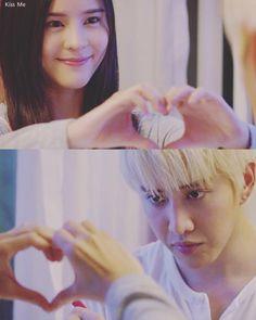 Taliw: I think I know now what the shape of my heart is like. It looks exactly like you!. Kiss Me #thai #itazura na kiss #drama
