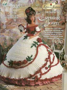 Melanie's Evening Gown Ladies of Fashion Crochet Pattern for Barbie Dolls NEW #TheNeedlecraftShop