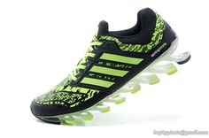 Men's Adidas Springblade Drive Running Shoes Camo Fluorescent Green Black 40-45
