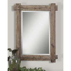 Claudio Wood Mirror - Overstock™ Shopping - Great Deals on Mirrors